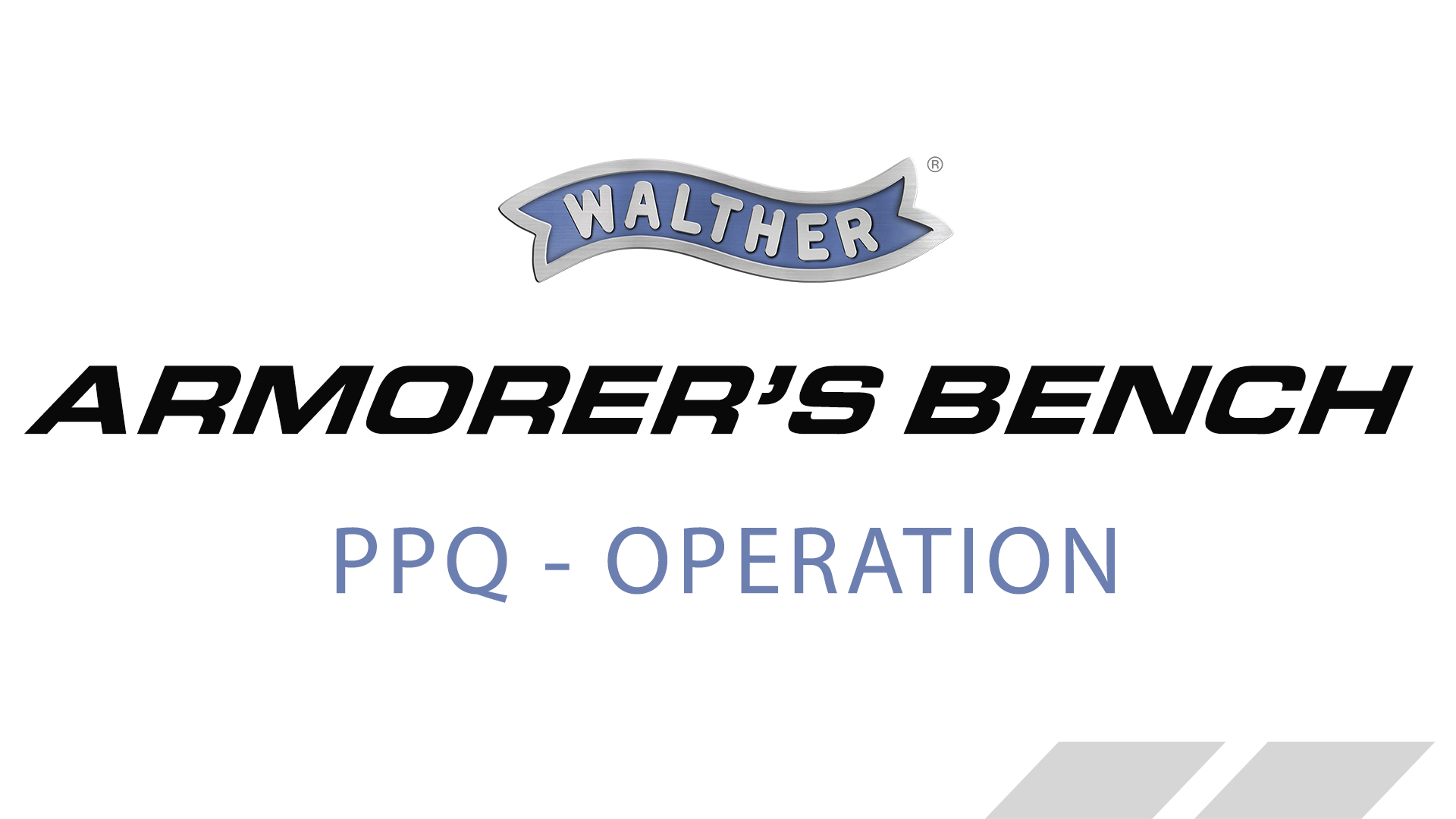 Walther PPQ - Cycle of Operation - How It Works –