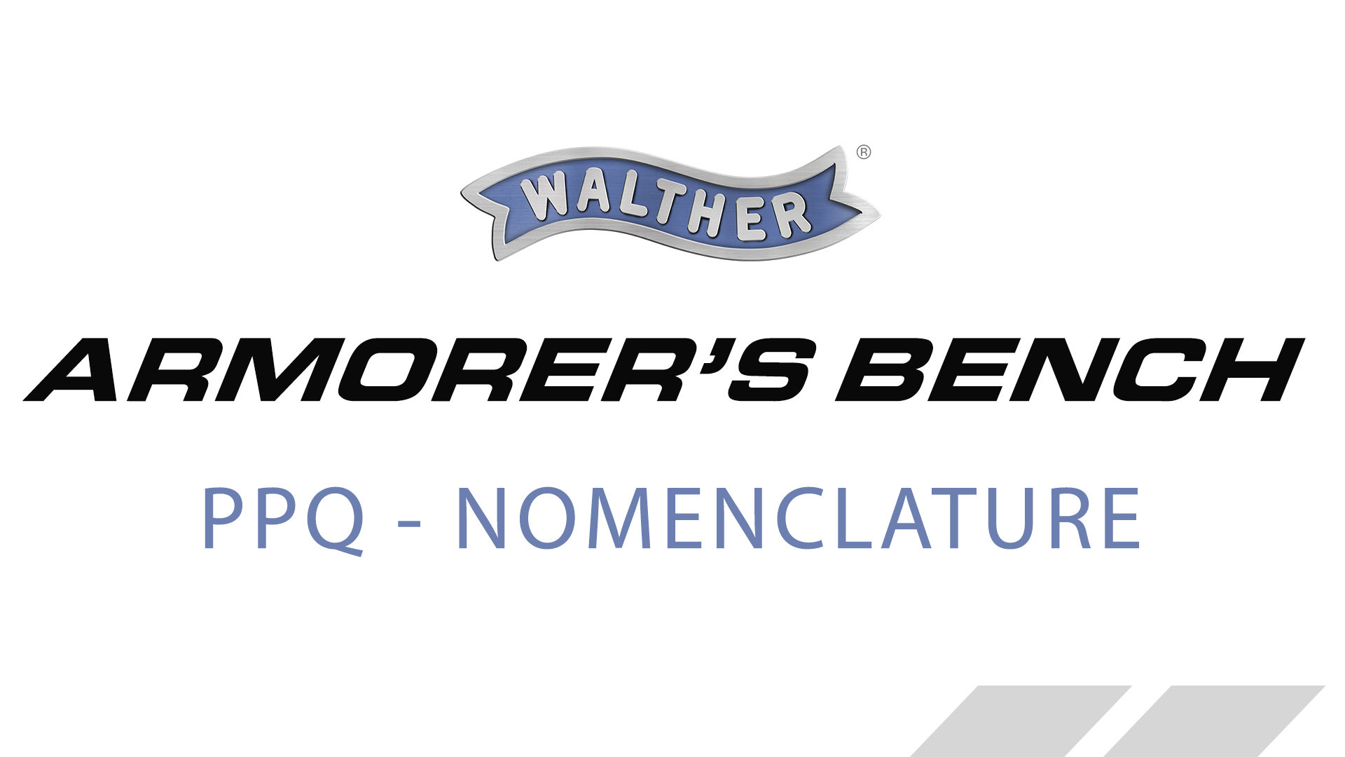 Walther PPQ PARTS and NAMES – www waltherarms com